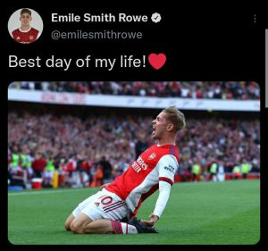 Best day of my life - Smith Rowe reveals after scoring against Spurs