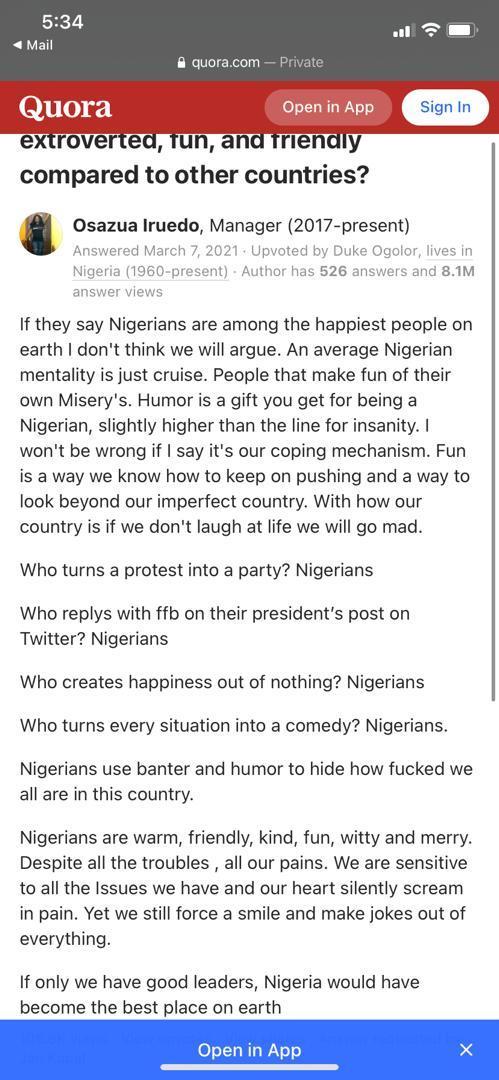 Nigerians lady